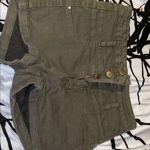 Olive/navy green shorts